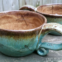 Dragonfly oversized coffee mug